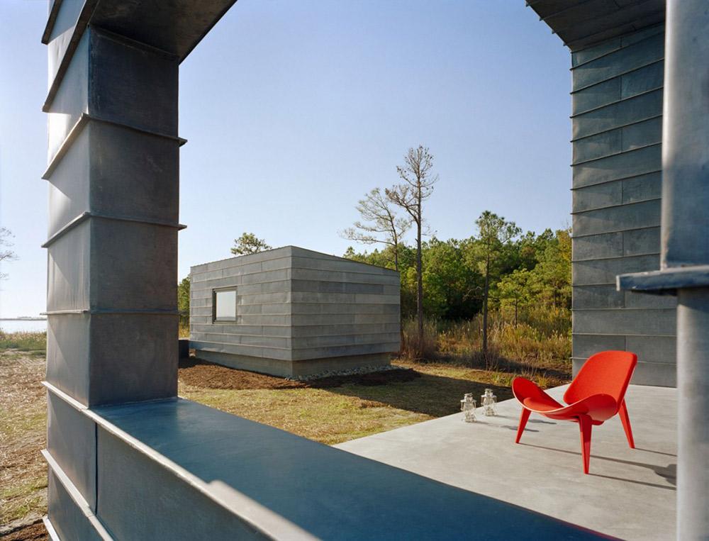 Terrace, Hoopers Island Residence, Maryland by David Jameson Architect