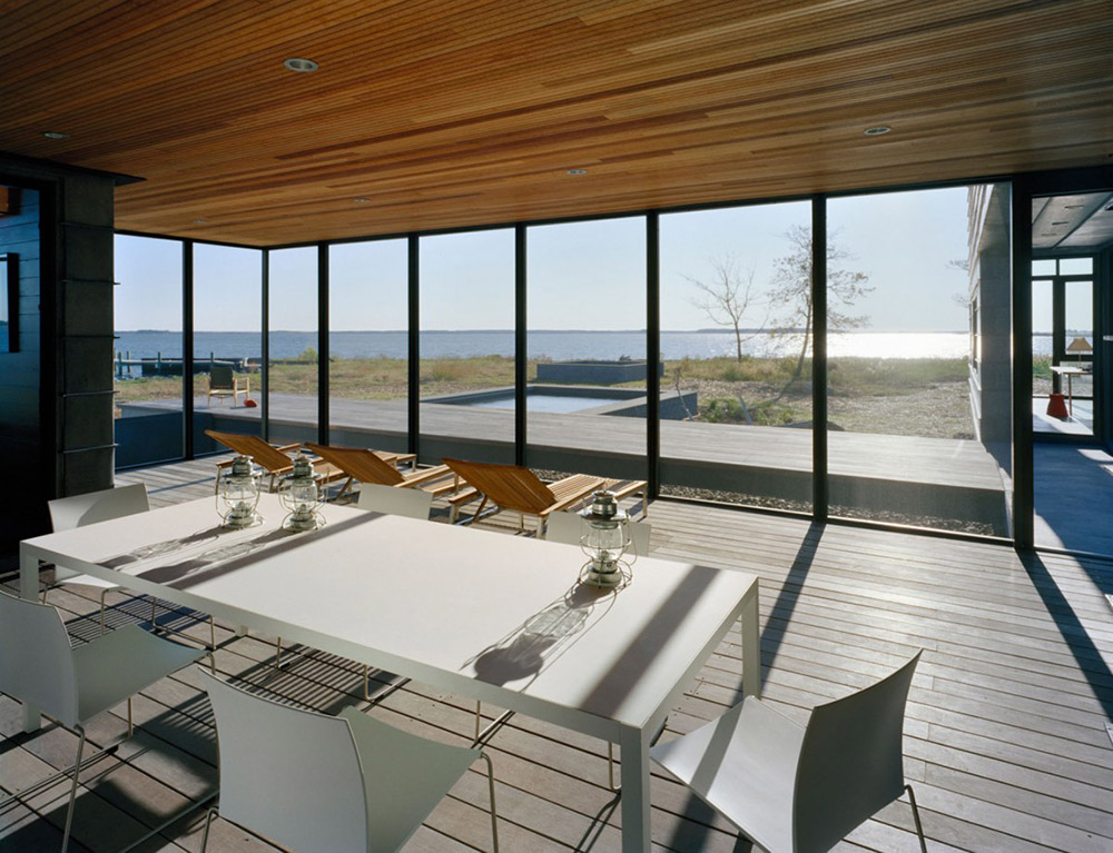 Dining, Hoopers Island Residence, Maryland by David Jameson Architect