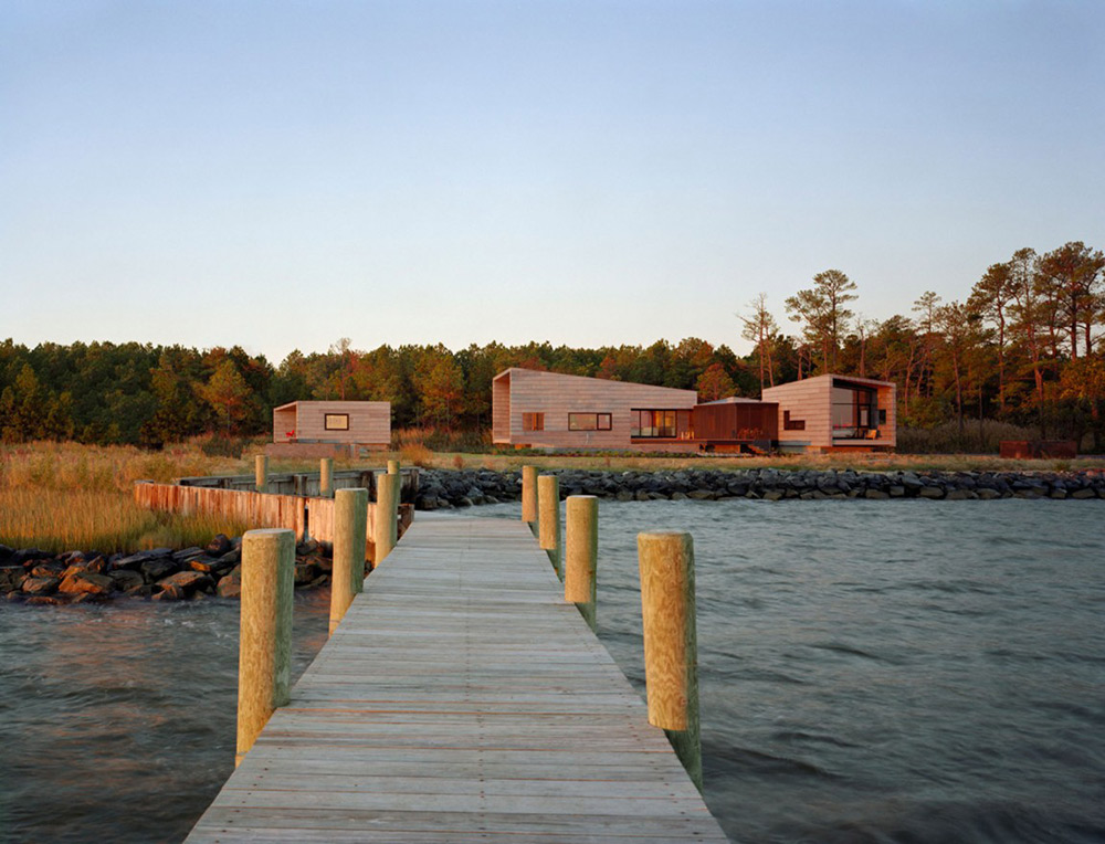 Dock, Hoopers Island Residence, Maryland by David Jameson Architect