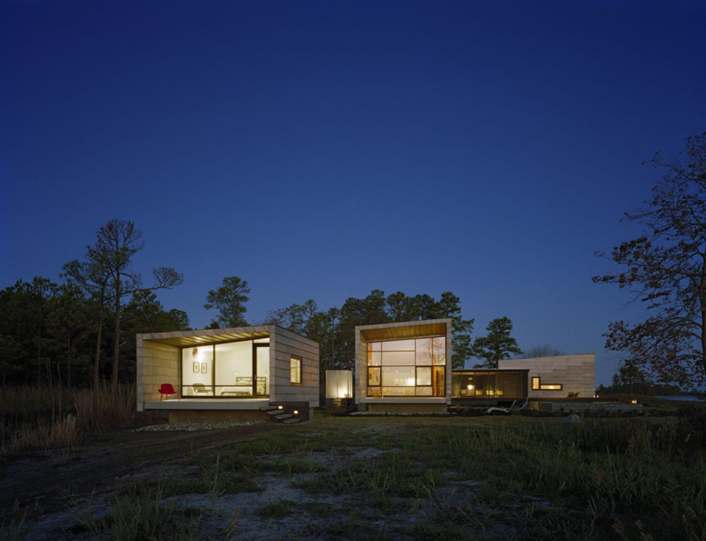 Evening, Hoopers Island Residence, Maryland by David Jameson Architect