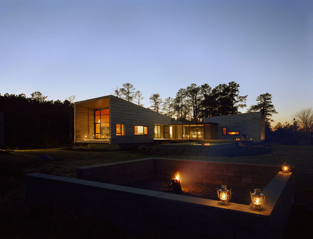 Fire Pit, Hoopers Island Residence, Maryland by David Jameson Architect