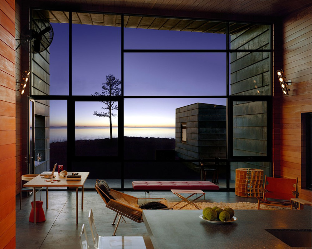 Living Space, Hoopers Island Residence, Maryland by David Jameson Architect