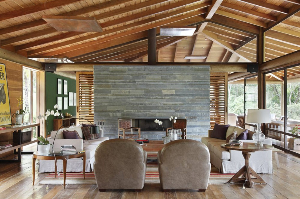Contemporary Fireplace, House in Itaipava, Brazil by Cadas Architecture