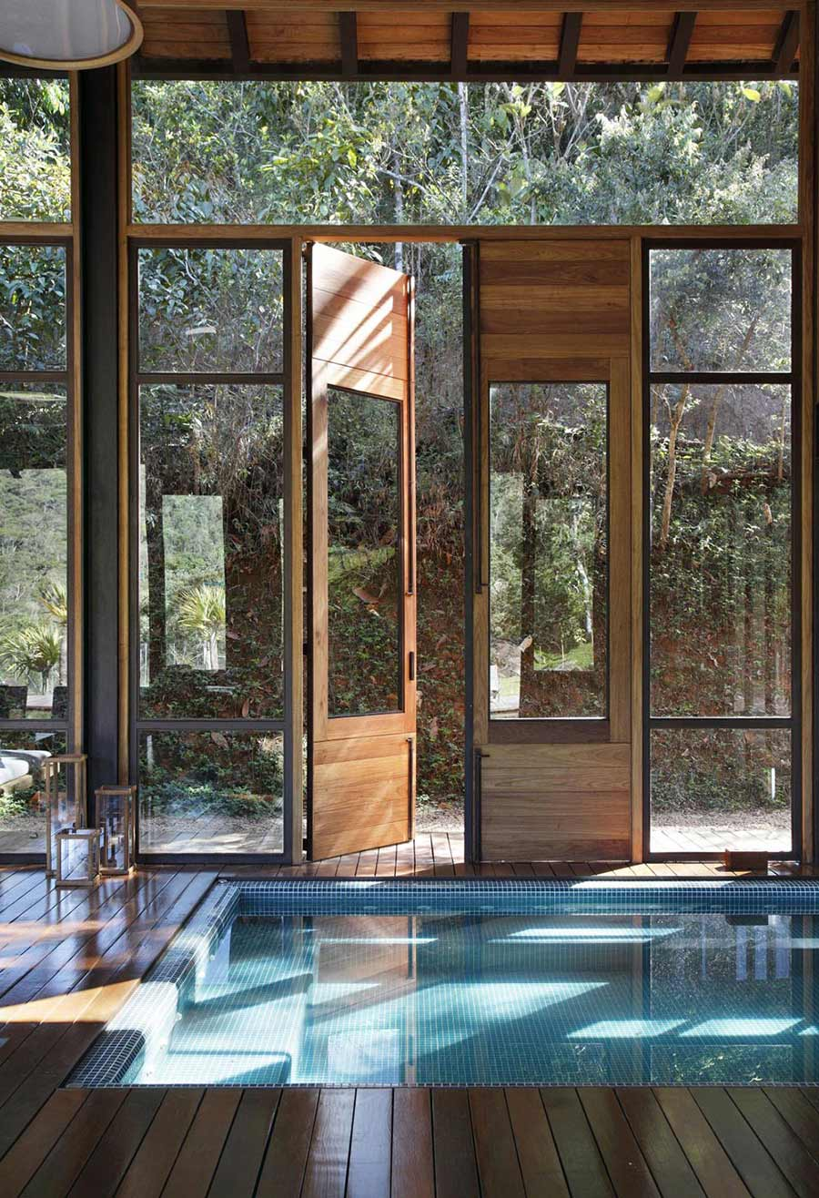 Indoor Pool, House in Itaipava, Brazil by Cadas Architecture