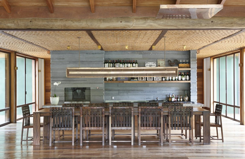 Dining & Kitchen, House in Itaipava, Brazil by Cadas Architecture