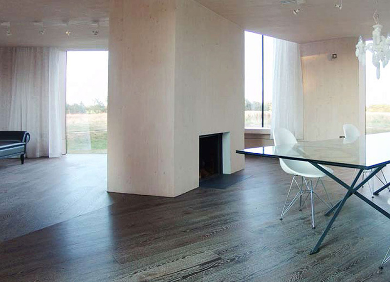 Contemporary Fireplace, Hunsett Mill, Norfolk, England by Acme