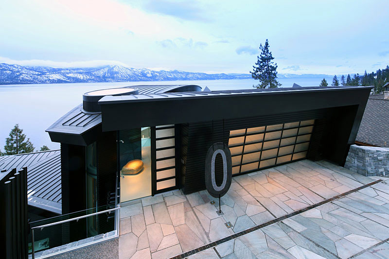Entrance, Lake House, Lake Tahoe by Mark Dziewulski Architect