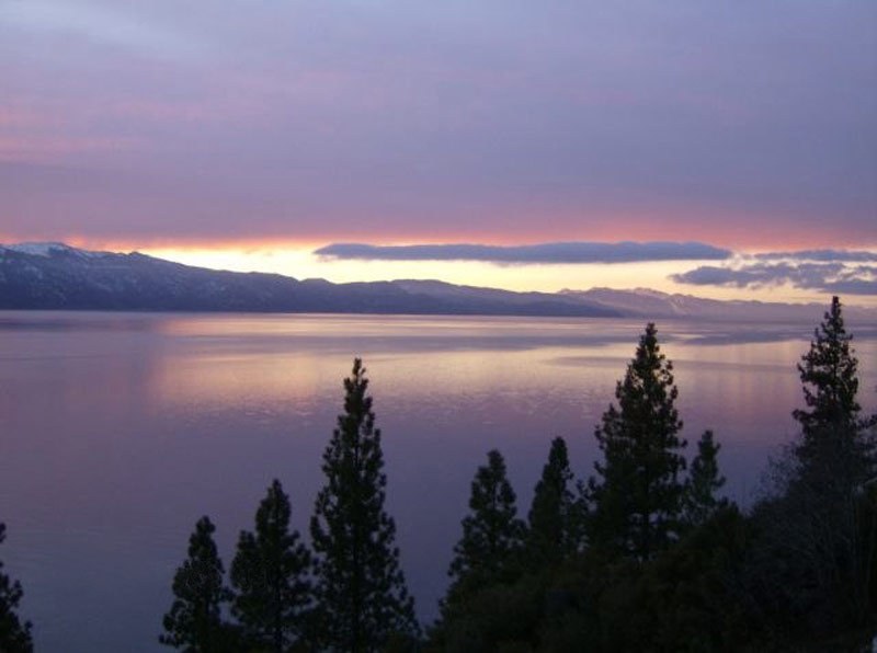 Evening View, Lake House, Lake Tahoe by Mark Dziewulski Architect