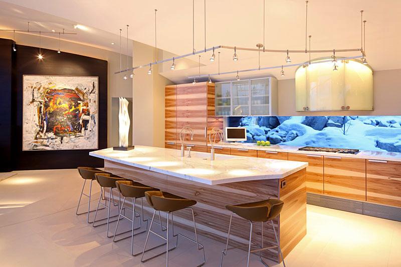 Kitchen, Lake House, Lake Tahoe by Mark Dziewulski Architect