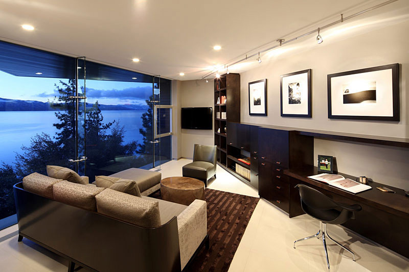 Office, Lake House, Lake Tahoe by Mark Dziewulski Architect