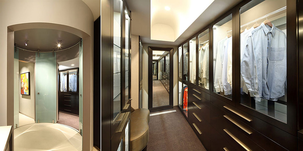 Walk-in Wardrobe, Lake House, Lake Tahoe by Mark Dziewulski Architect