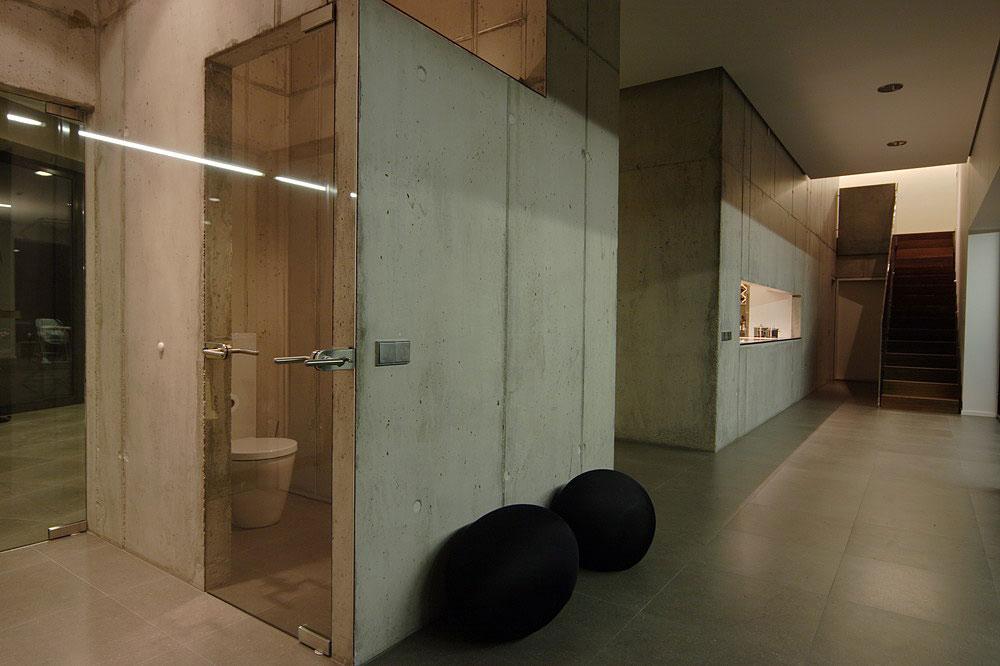 Bathroom, Hall, Family House in Utriai, Lithuania by G.Natkevicius & Partners