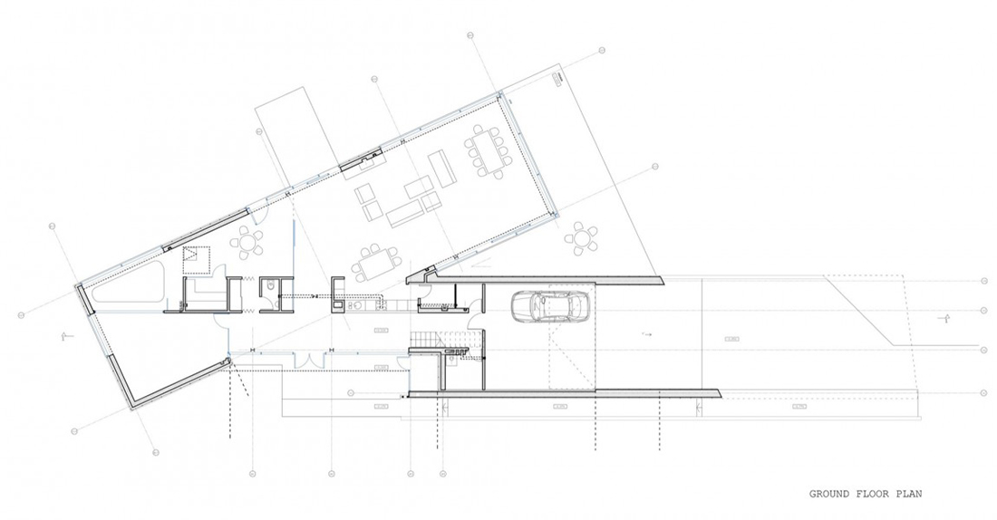 Ground Floor Plan, Family House in Utriai, Lithuania by G.Natkevicius & Partners