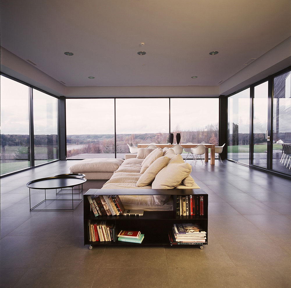 Living Space, Family House in Utriai, Lithuania by G.Natkevicius & Partners