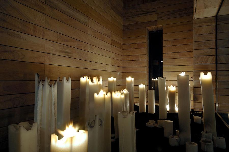 Internal Courtyard, Candles, Vivienda 4 Luxury Development, Madrid by A-cero Architects