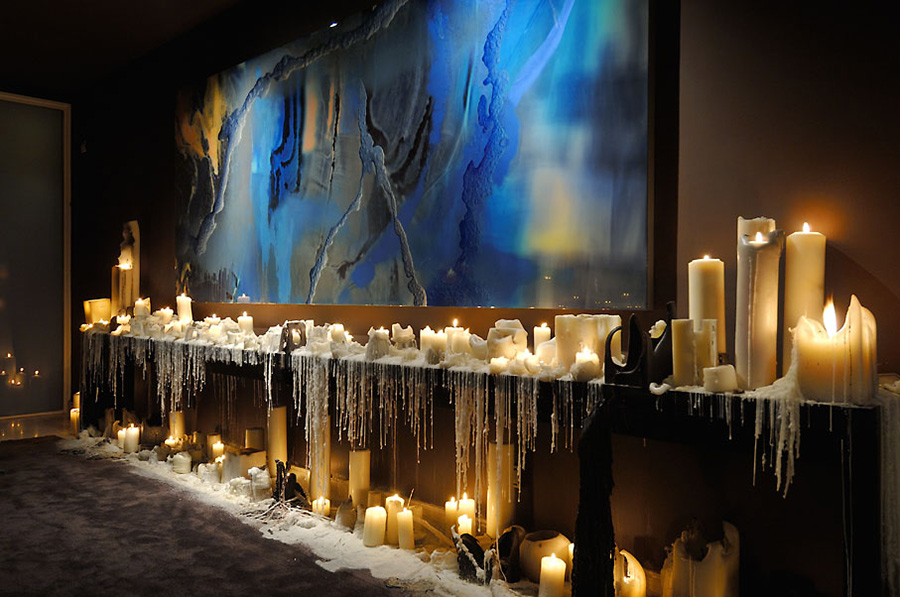 Foyer Art, Candles, Vivienda 4 Luxury Development, Madrid by A-cero Architects