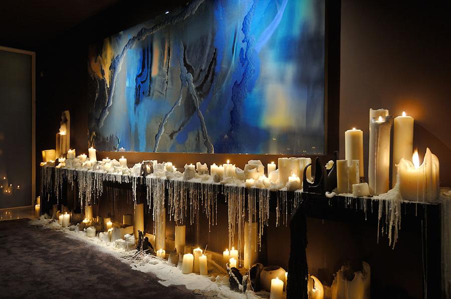Foyer Art, Candles, Vivienda 4 Luxury Development, Madrid by A-cero Architects