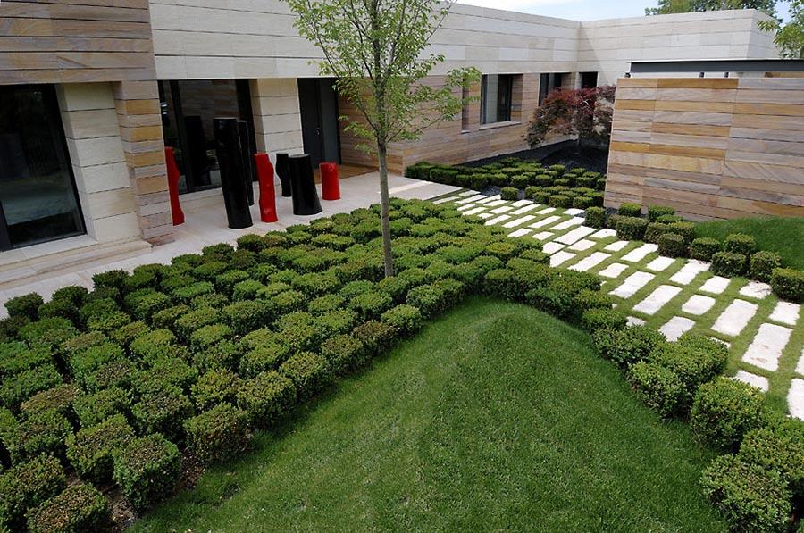 Garden, Vivienda 4 Luxury Development, Madrid by A-cero Architects