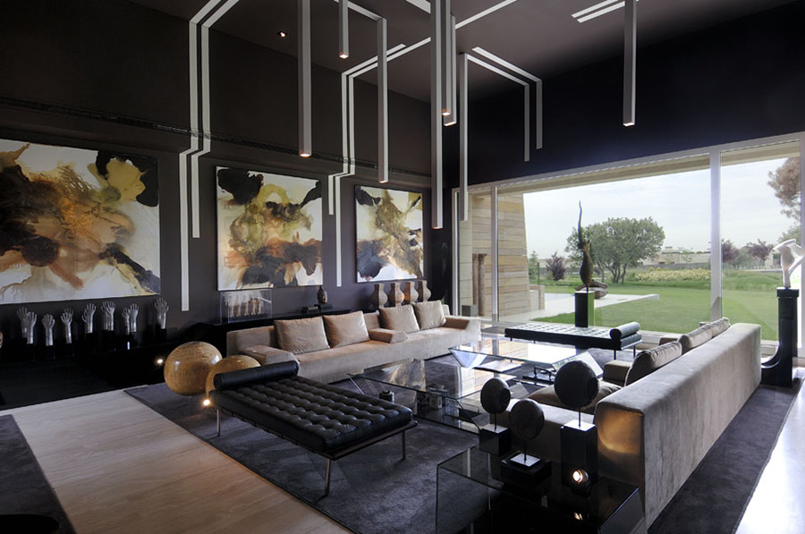 Living Room, Vivienda 4 Luxury Development, Madrid by A-cero Architects