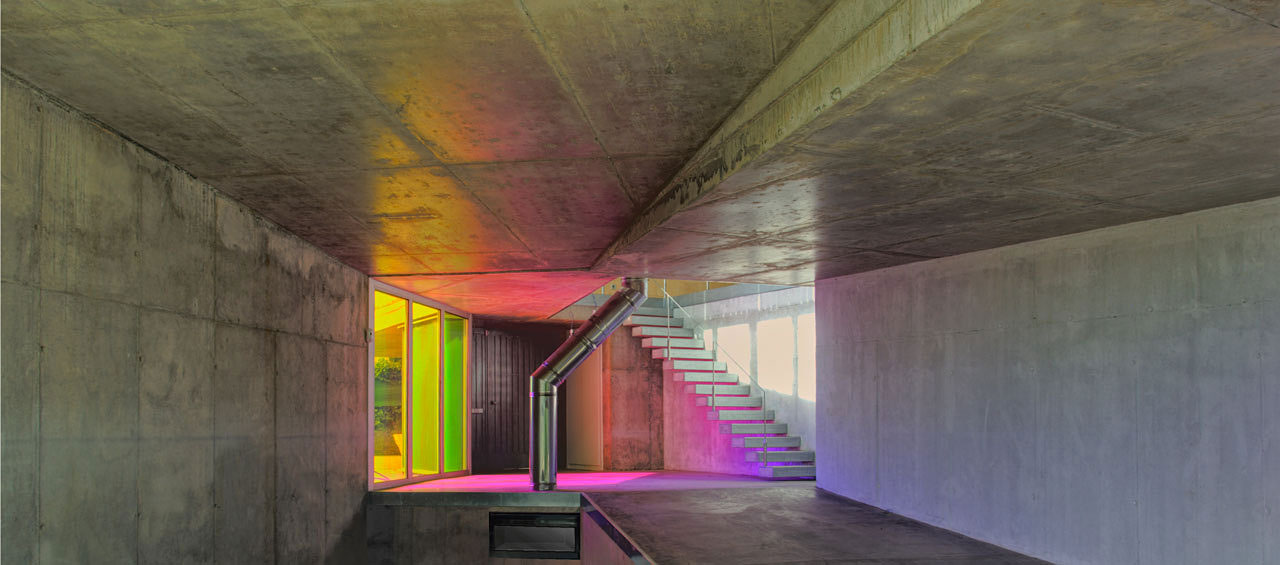 Hall, Stairs, Ants' House, Spain by Espegel-Fisac Architects