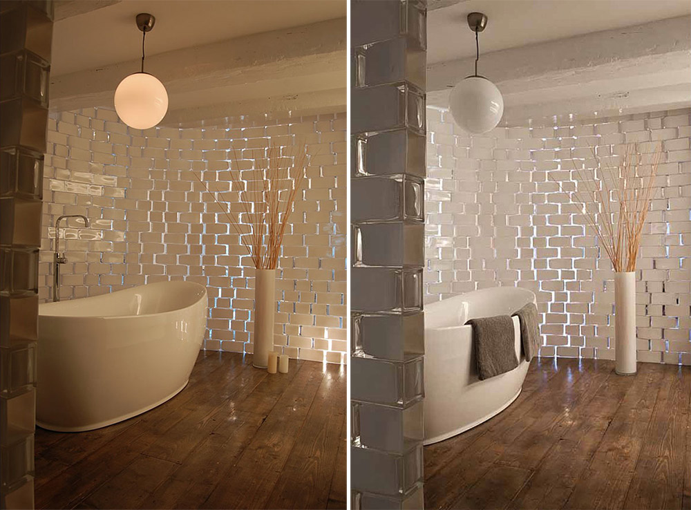 Bathroom, Brouwersgracht Apartment, Amsterdam by CUBE and SOLUZ