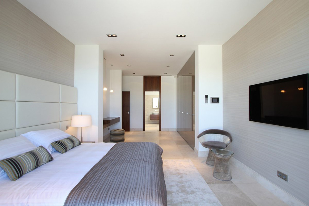 Bedroom, Can Siurell Villa, Mallorca by Curve Interior Design