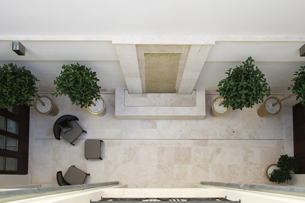 Courtyard, Can Siurell Villa, Mallorca by Curve Interior Design