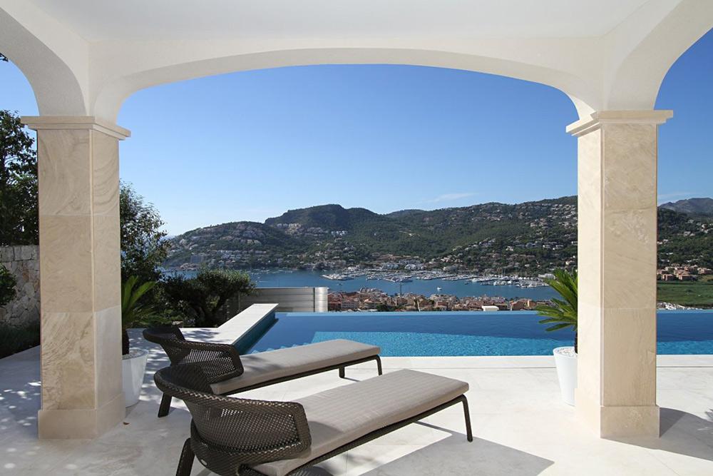 Infinity Pool, View, Can Siurell Villa, Mallorca by Curve Interior Design