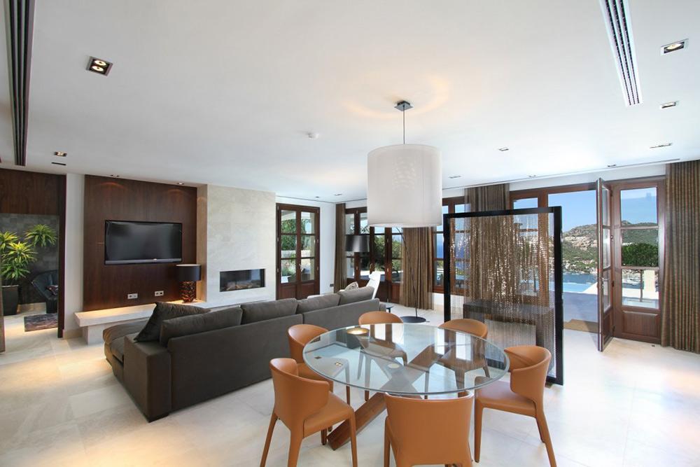 Living & Dining Space, Can Siurell Villa, Mallorca by Curve Interior Design