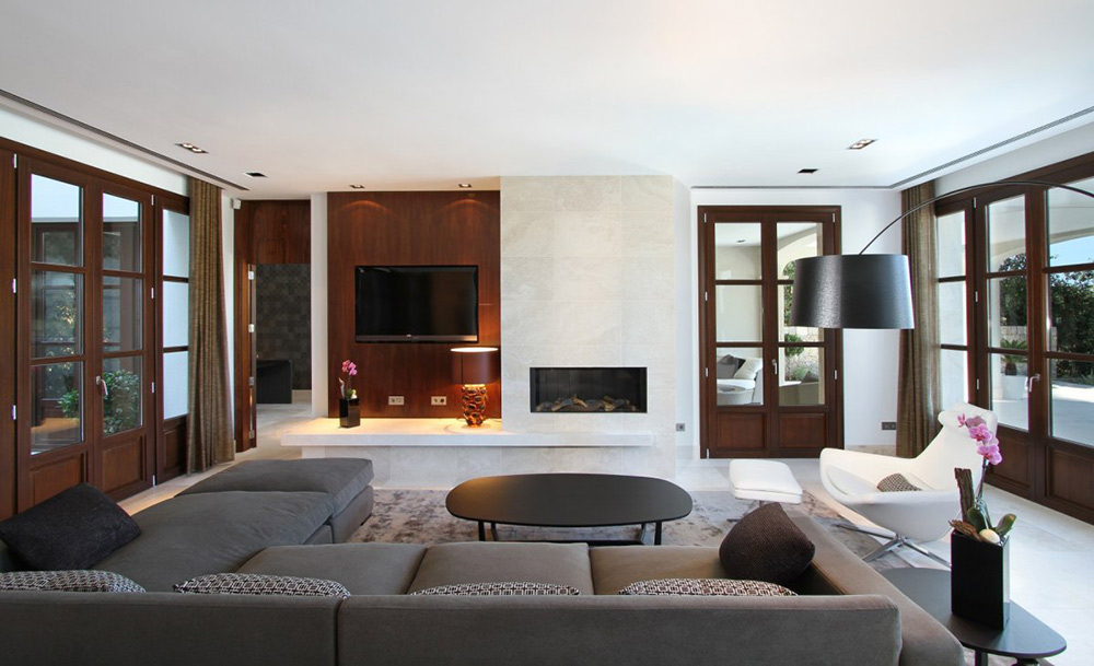 Living Space, Can Siurell Villa, Mallorca by Curve Interior Design