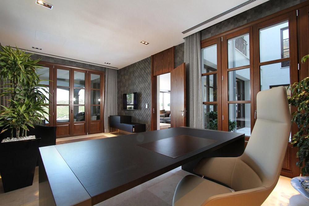 Office, Can Siurell Villa, Mallorca by Curve Interior Design