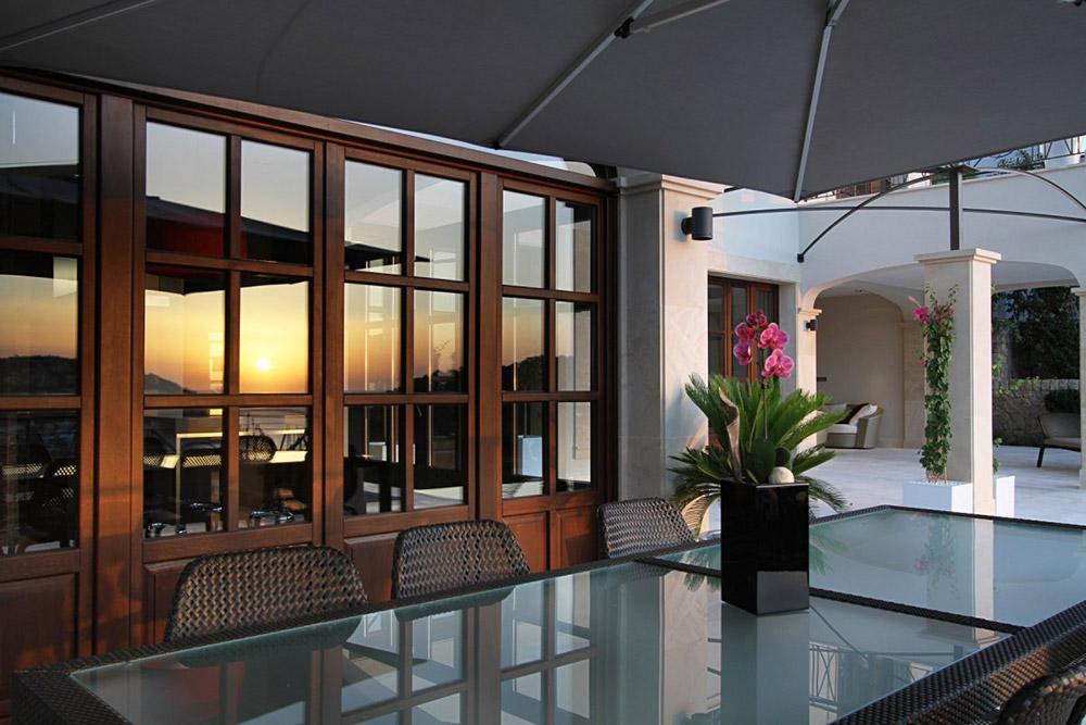 Outdoor Dining, Can Siurell Villa, Mallorca by Curve Interior Design
