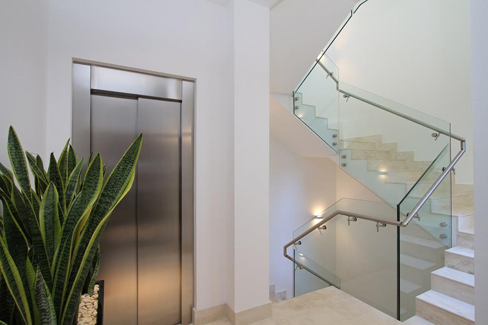 Staircase, Elevator, Can Siurell Villa, Mallorca by Curve Interior Design