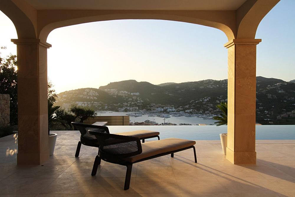 Terrace View, Can Siurell Villa, Mallorca by Curve Interior Design