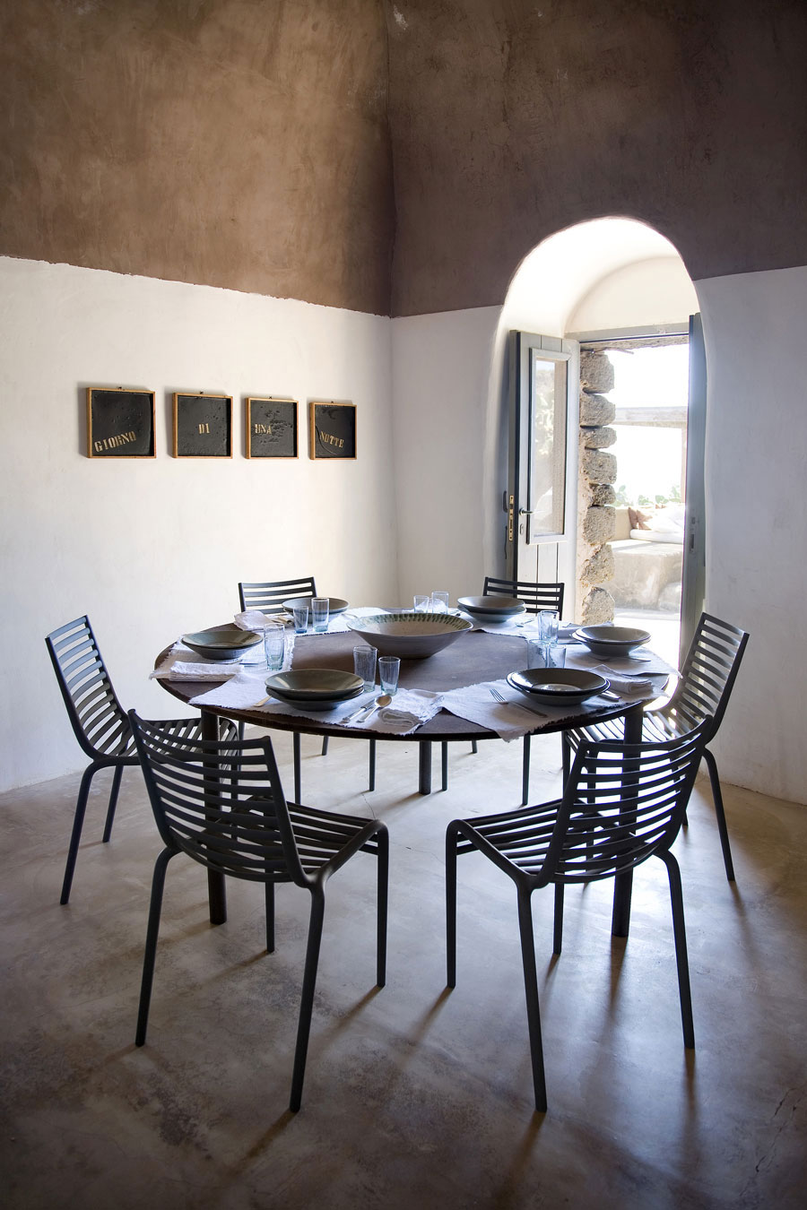 Dining SpaceLiving Space, Casa Albanese, Island of Pantelleria, Italy by ASA Studio Albanese