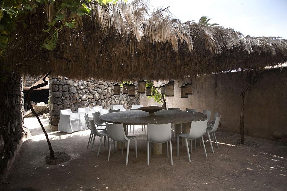 Outdoor Dining, Casa Albanese, Island of Pantelleria, Italy by ASA Studio Albanese
