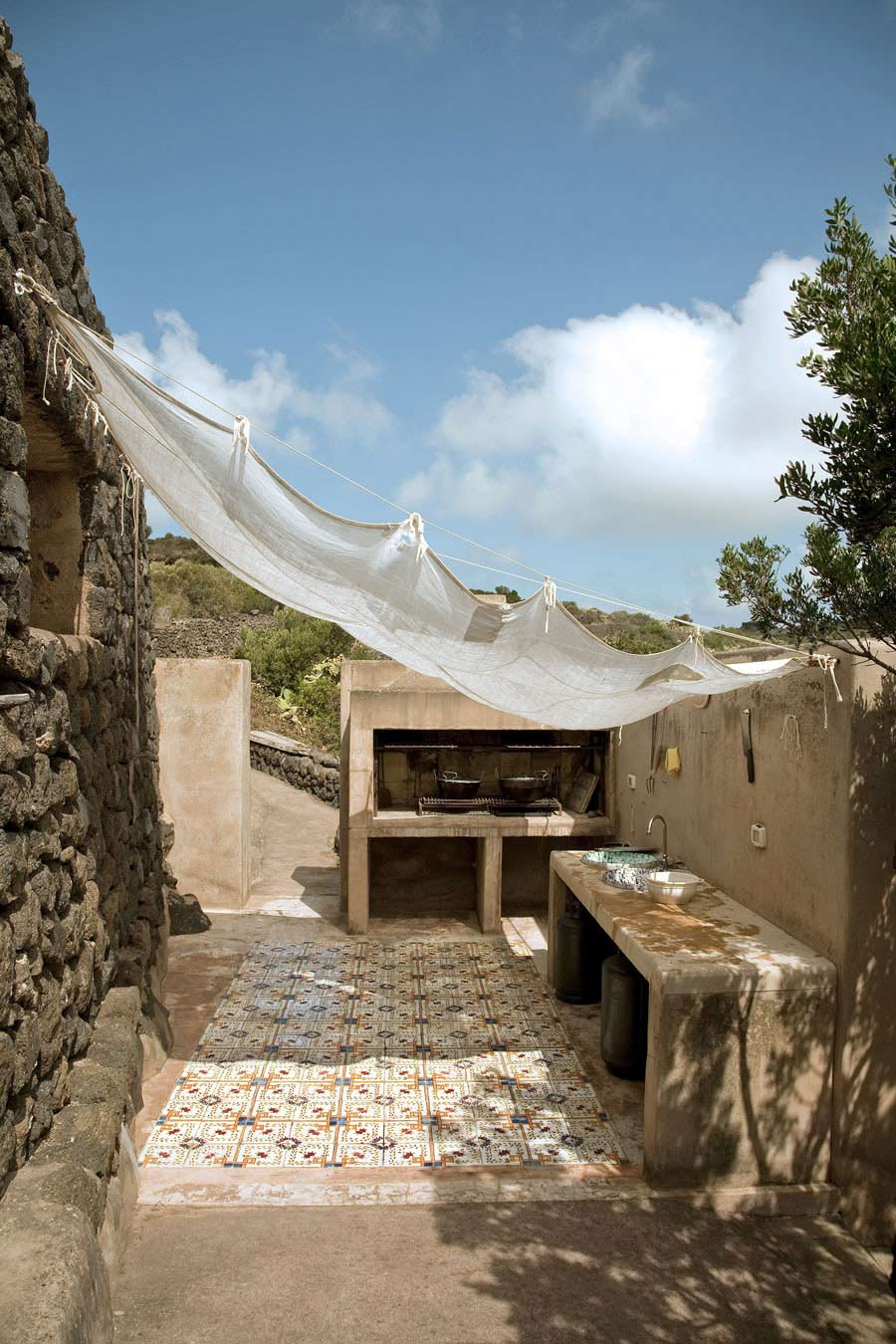 Outdoor Kitchen, Casa Albanese, Island of Pantelleria, Italy by ASA Studio Albanese