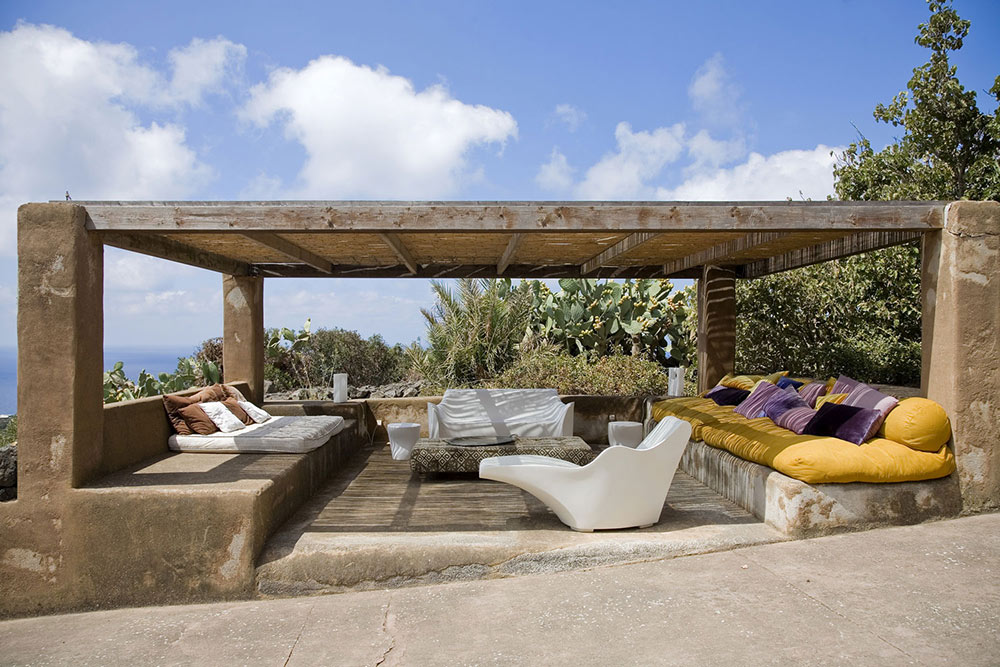 Outdoor Living Space, Casa Albanese, Island of Pantelleria, Italy by ASA Studio Albanese
