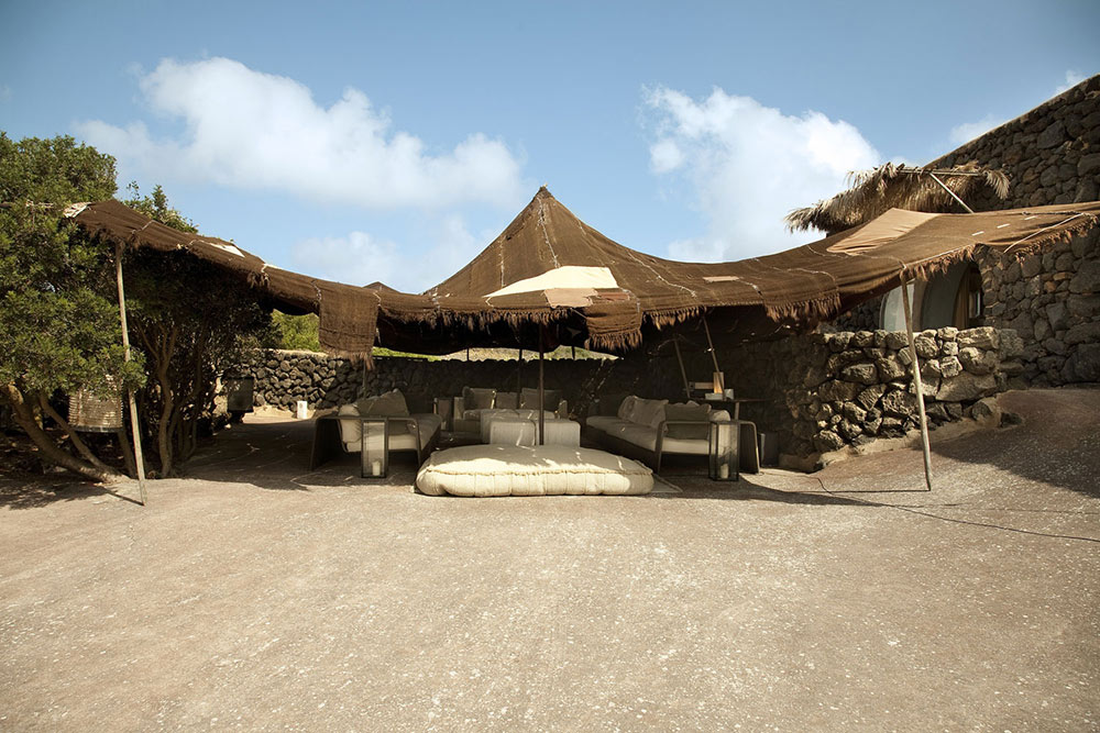 Outdoor Living Space, Casa Albanese, Island of Pantelleria, Italy by ASA Studio Albanese
