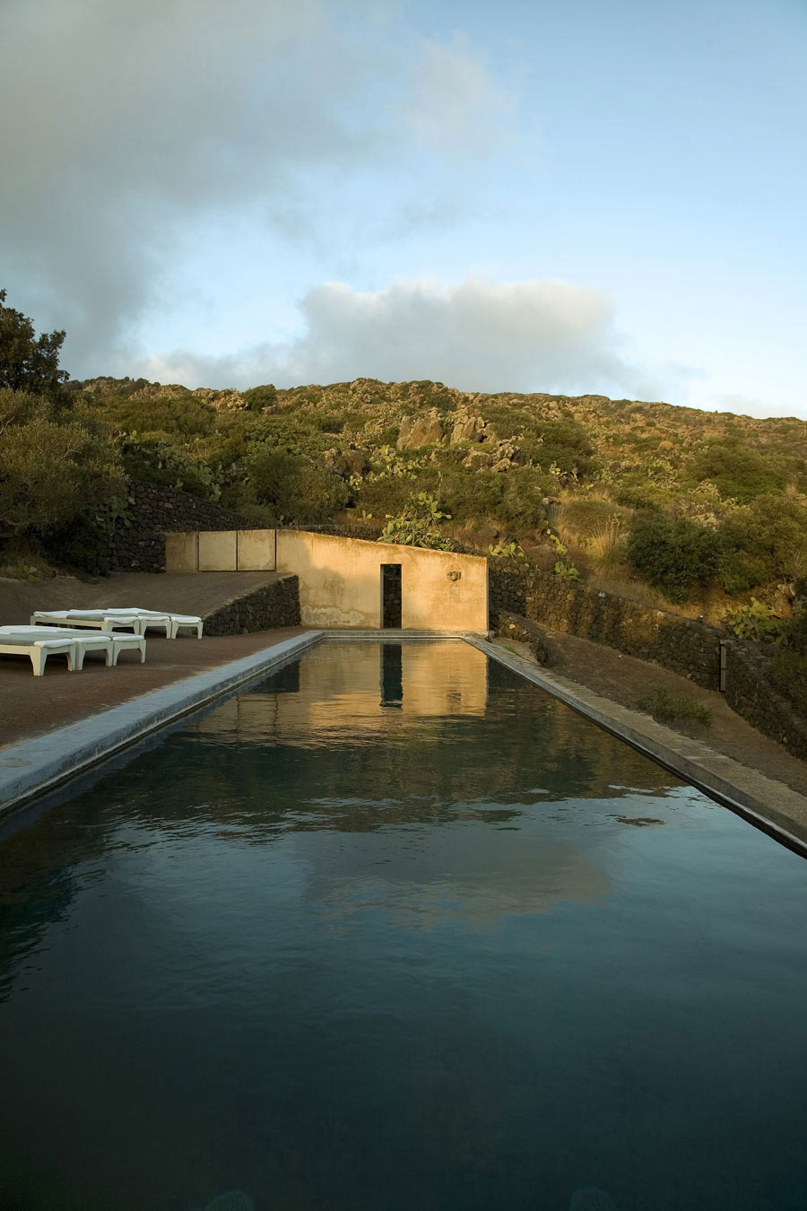 Outdoor Pool, Casa Albanese, Island of Pantelleria, Italy by ASA Studio Albanese