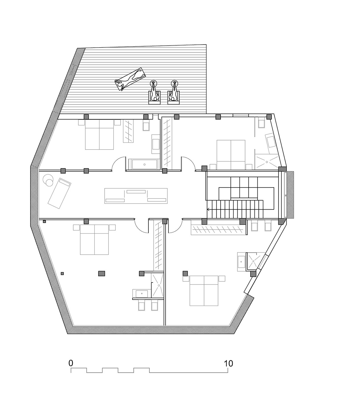 plan, diamond house, alicante, spainabis arquitectura