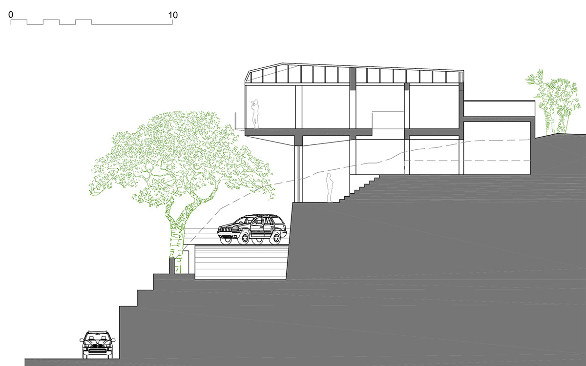 Section, Diamond House, Alicante, Spain by Abis Arquitectura