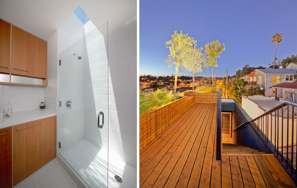 Bathroom & Roof Terrace, Eels Nest, Los Angeles by Anonymous Architects
