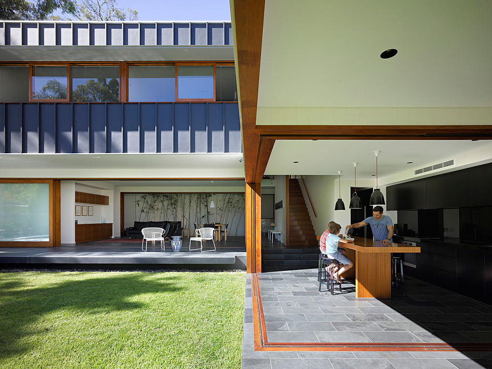 Open Kitchen, Living Space, Fig Tree Pocket House 2, Brisbane, Australia by Shane Plazibat Architects