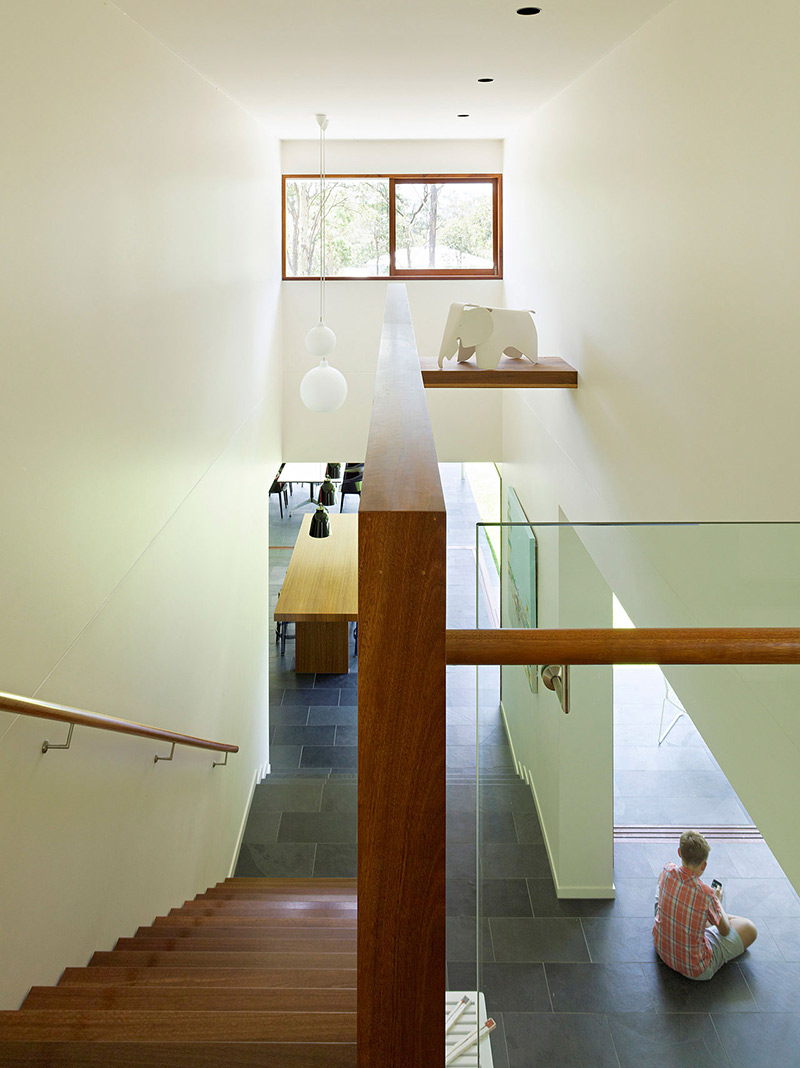 Staircase, Fig Tree Pocket House 2, Brisbane, Australia by Shane Plazibat Architects