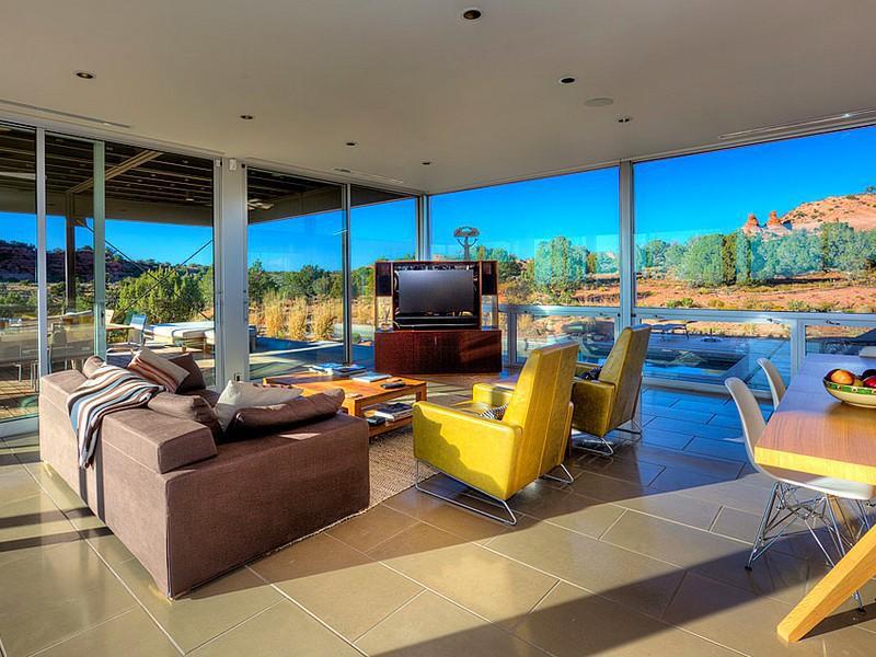 Living Space, Hidden Valley House, Utah by Marmol Radziner