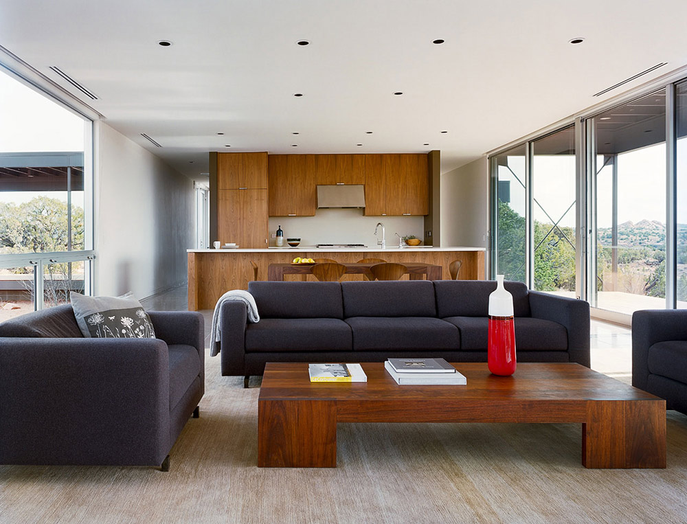 Open Plan Living Kitchen, Hidden Valley House, Utah by Marmol Radziner