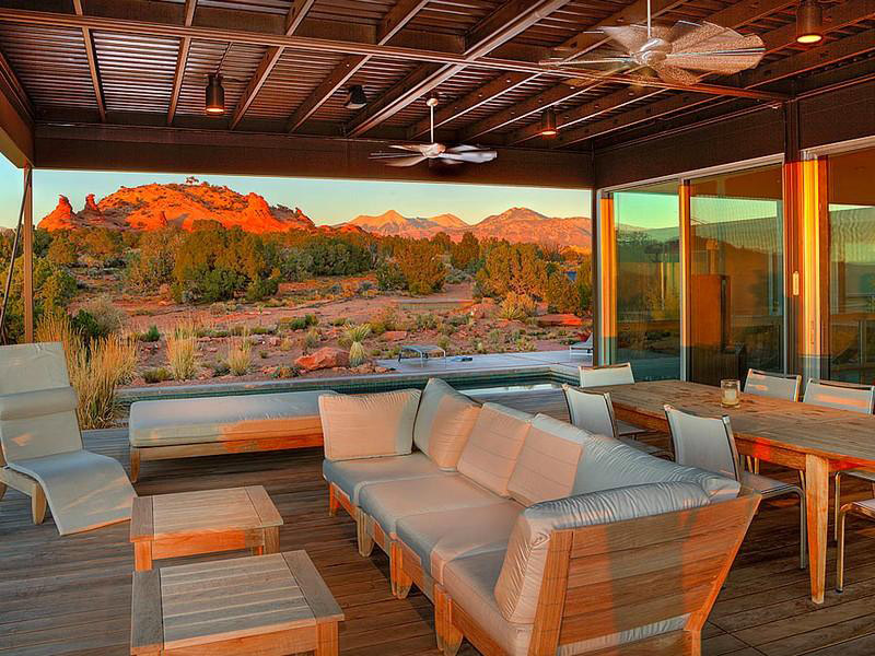 Outdoor Living Area, Hidden Valley House, Utah by Marmol Radziner