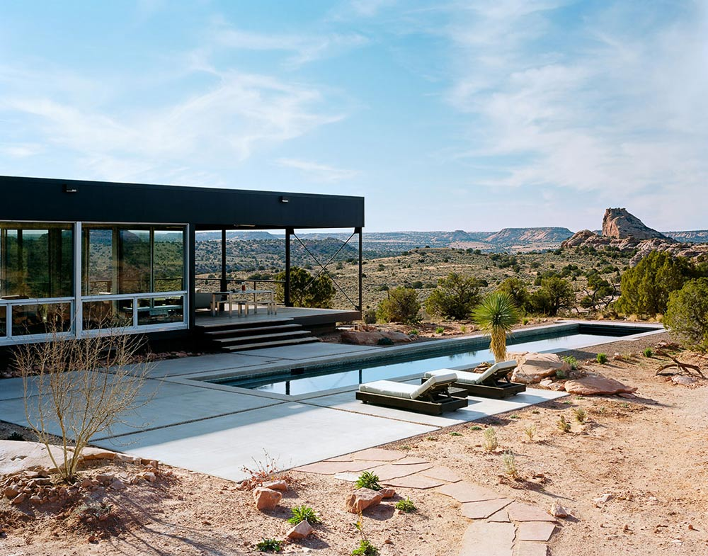Pool, Amazing Views, Hidden Valley House, Utah by Marmol Radziner