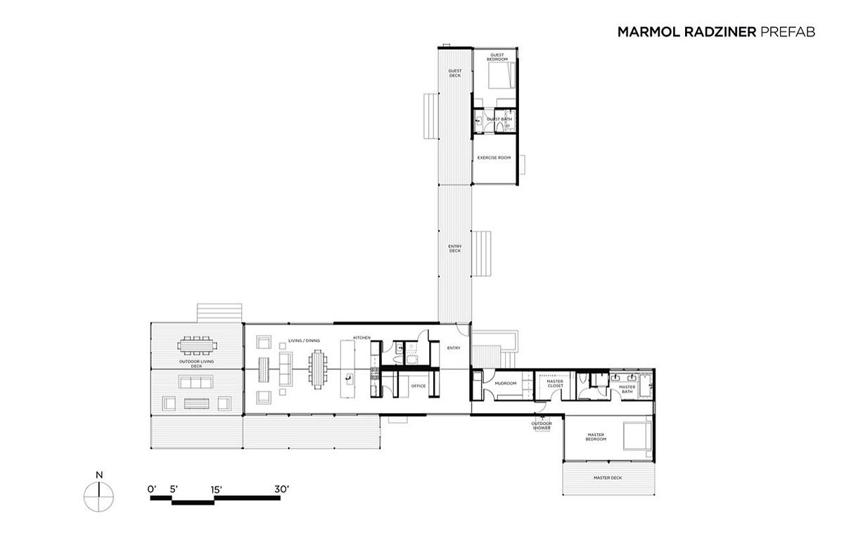 Plan hidden valley house utah by marmol radziner for Utah floor plans